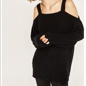 Zara Knit Distressed Sweater